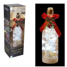 Premier 29cm Battery Light up Bottle with 15 White LED's - Reindeer