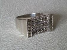 925 STERLING SILVER MARCASITE RING (US 7.75 UK P 1/2 )