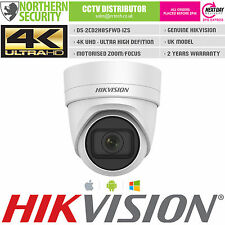 4K UHD HIKVISION 8MP 2.8-12MM MOTORISED TURRET IR POE IP DOME SECURITY CAMERA