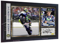 Valentino Rossi Autograph print signed photo picture FRAMED (MDF)