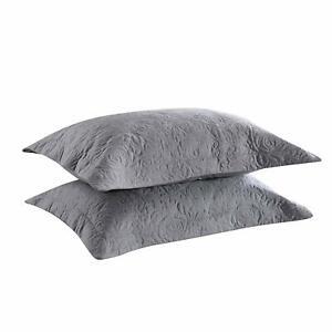 Embroidery Pillow Shams Decorative Microfiber Pillow Shams(set of 2)