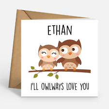 Personalised I'll Owl Ways Love You Cute Funny Birthday Valentines Day Card