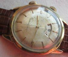 Girard Perregaux Alarm mens wristwatch gold filled case 34mm. in diameter