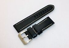 24mm Premium Leather Watch Band Strap w/316L Buckle For PANERAI