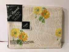 Lady Pepperell Yellow Floral Flowers Marigolds Twin Flat Sheet Nos