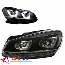 LED DRL Headlights HeadLamps For Volkswagen VW Golf MK6 GTI 2008-2014 Assembly