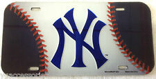 "MLB New York Yankess Wincraft 12"" X 6"" Crystal Cut License Plate NEW!"
