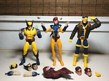 "New listing Marvel Legends X-Men Wolverine Jean Grey Cyclops 3-Pack Love Triangle Set 6"" Nr"