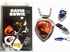Pickbay Guitar Pick Holder Necklace + David Bowie 6 Guitar Pick Set (licensed)