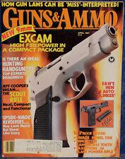 Magazine GUNS & AMMO Apr 1987 SMITH & WESSON Models 422 & 39, Ek Commando KNIFE