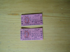 Bushey and Oxhey British Rail tickets from 1972 Cheap off peak 47p