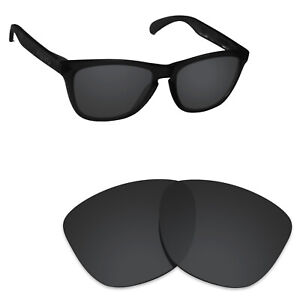 Scratch Proof Polarized Replacement Lenses for-Oakley Frogskins Stealth Black