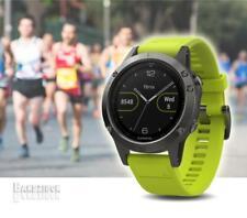 GARMIN Fenix 5 Watch Grey Yellow Band GPS HRM Sports Running Training Triathlon