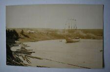 More details for vintage postcard four-masted merchant ship arriving at bay real photo rp noko