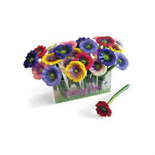 XONEX PANSY Flower SINGLE PEN Black Ink Ballpoint in 1 of 6 colors #10711