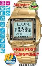 CASIO WATCH TELEMEMO 5 ALARMS DB-360G-9A DB360 DB-360 DB360G WARNTY