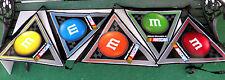 5 NASCAR M&M's PENNANT/FLAG BLUE/YELLOW/RED/GREEN/ORANGE Pennants/Flags MANCAVE