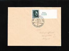 Germany Single Overprint Hitler & Label Berlin Stamp Day 1938 Cover 3p