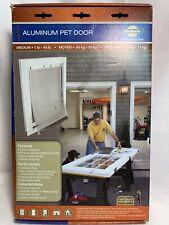 "PetSafe Freedom Aluminum Pet Door MEDIUM (1-40 LBS) 8 1/4"" X 12 1/4"" - New"