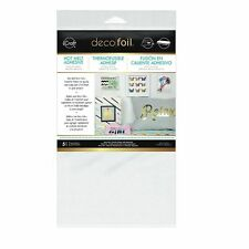 "iCraft Deco Foil Hot Melt Adhesive 5.5"" x 12"" (13cm x 30cm) Sheets. Pack of 5"