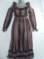 VINTAGE 1960s/70s DITSY FLORAL MAXI DRESS - PRAIRIE / BOHO / HIPPY