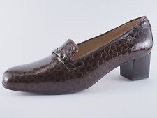 Confort Ladies Shoes 41 Patent Leather Brown Evening Shoes Pumps New