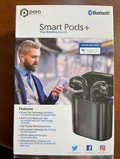 New listing Pom Smart Pods + Bluetooth wireless EarBuds Black New In Box!