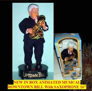 """Bill Clinton Uptown Bill 16"""" Moves & Grooves to the Soulful Sax Playing Figure"""