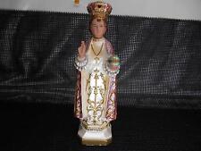Antique Columbia Statuary INFANT OF PRAGUE Chalkware Statue Made Italy Figurine