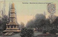 CPA 59 TOURCOING MONUMENT DE LA BATAILLE DE TOURCOING (cpa toilée émaillée