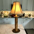 Wooden Textile Spool Light Lamp Country Rustic Primitive Vintage TALL 28