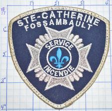CANADA, STE-CATHERINE FOSSAMBAULT FIRE SERVICE INCENDIE QUEBEC PATCH