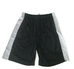 Galaxy by Harvic Mens Black and Silver Active Moisture Wicking Mesh Shorts 3XL