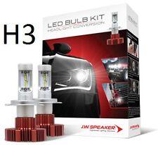 990003 JW Speaker LED H3 Multivolt Headlight Globes 2000 Lumen 6200K Car Truck