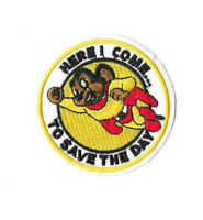 MIGHTY MOUSE SAVE Iron on / Sew on Patch Embroidered Badge Cartoon TV PT532