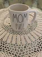Rae Dunn By Magenta LL MOM FUEL Coffee Tea Mug Cup Large Long Letters HTF