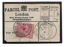 T35 1917 GB Londra Kings Road PACCHI POSTALI {samwells-covers} PTS