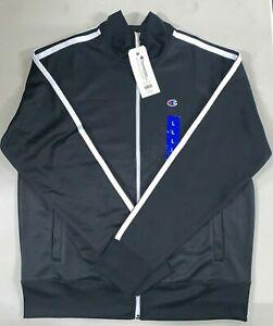 Champion Men's Athletic Fleece Full Zipper, Color: Black, XL