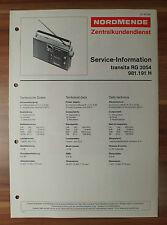 Transita RG2054 981.191H Nordmende Service Manual Serviceanleitung
