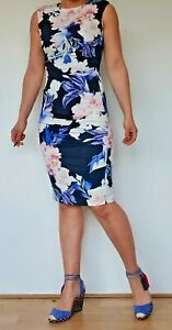 Women's Coast Floral Ruched Shift Dress Party Size 6 to 16 - RRP £99