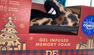 Women's Dearfoams  Memory Foam Slipper Gel Infused , Inside Outside, XL/ 11/12