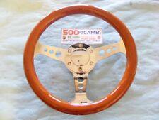 FIAT 500 F/L/R 126 VOLANTE SPORTIVO RADICA DI LEGNO Ø 31 RAZZE E CLACSON CROMATO