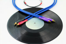 Tellurium Q Blue Phono RCA-RCA Turntable Interconnects 1.0m Pair (With Earth)