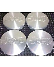 4 Pcs, Jeep Hubcaps Wheel Center Aluminum Logo Liberty Wrangler 55mm