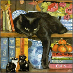 Full 5D Drill Diamond Painting Embroidery Black Cat Craft Art Home Decor Gift
