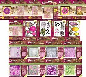 Crafters Companion Sheena Douglass - Create A Flower - Stamps, Stencils, Dies