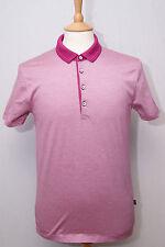"Hugo Boss men's short sleeve pink mercerised cotton sports polo shirt S 36"" 92cm"