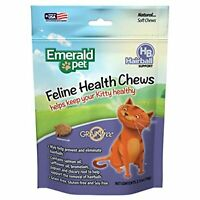 Emerald Pet Feline Hairball Soft Natural Grain Free Cat Chew, Made in USA