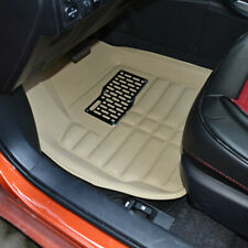Unversal 5pcs Car Floor Mats Front & Rear Liner Waterproof Pu Leather Light New(Fits: Neon)
