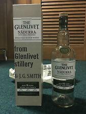 750 mL Glenlivet 16 YO Nadura Single Malt Scotch Whiskey Bottle and Box